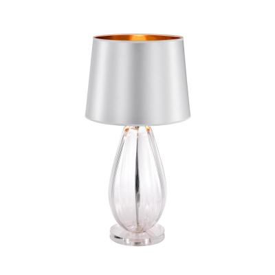 Keagan 26 in. 1-Light Indoor Chrome Table Lamp with Light Kit