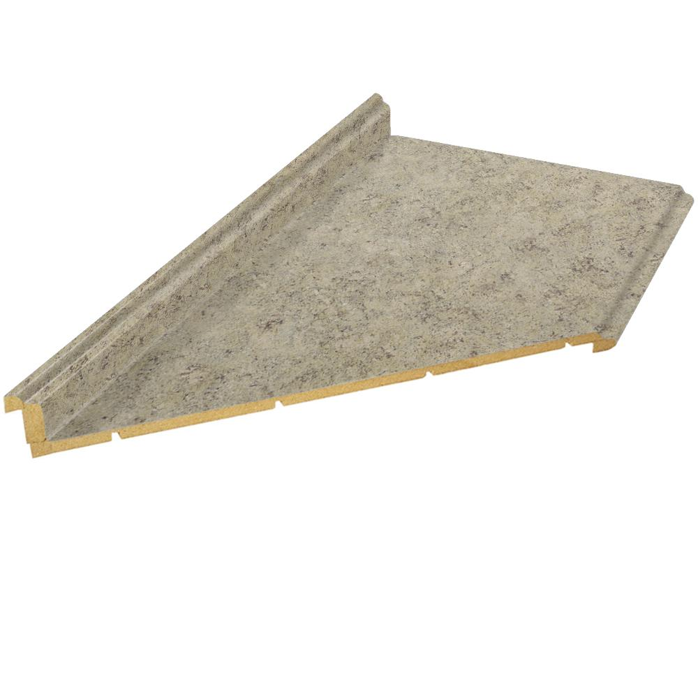 6 ft. Laminate Countertop with Left Miter in Golden Juparana with