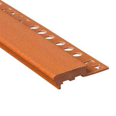 Novopeldano Maxi Terra 1/2 in. x 98-1/2 in. Composite Tile Edging Trim