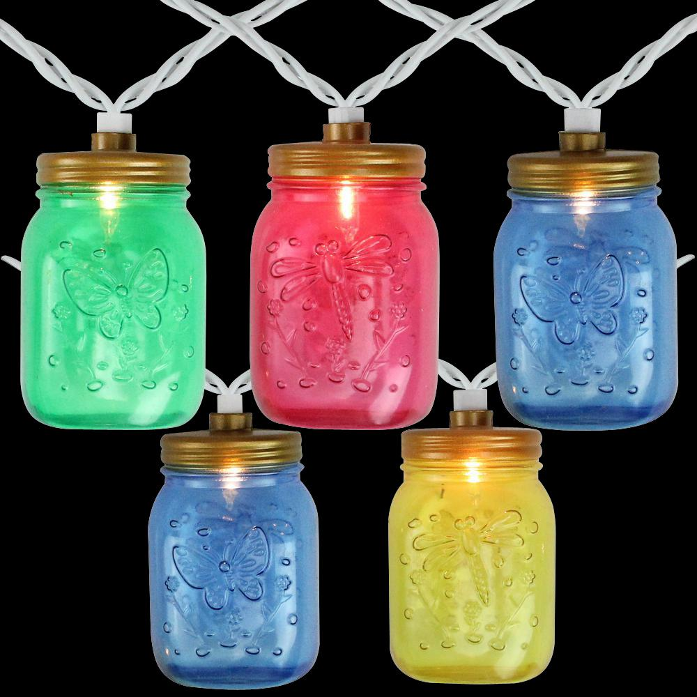 7 5 Ft 10 Light Multi Color Mason Jar