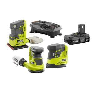 Deals on RYOBI 18V ONE+ Li-Ion 3-Tool Sanding Kit w/Battery & Charger