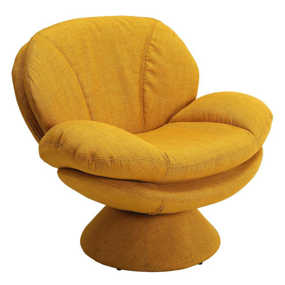 Beau Mac Motion Chairs Comfort Chair Rio Straw Yellow Fabric Leisure Chair