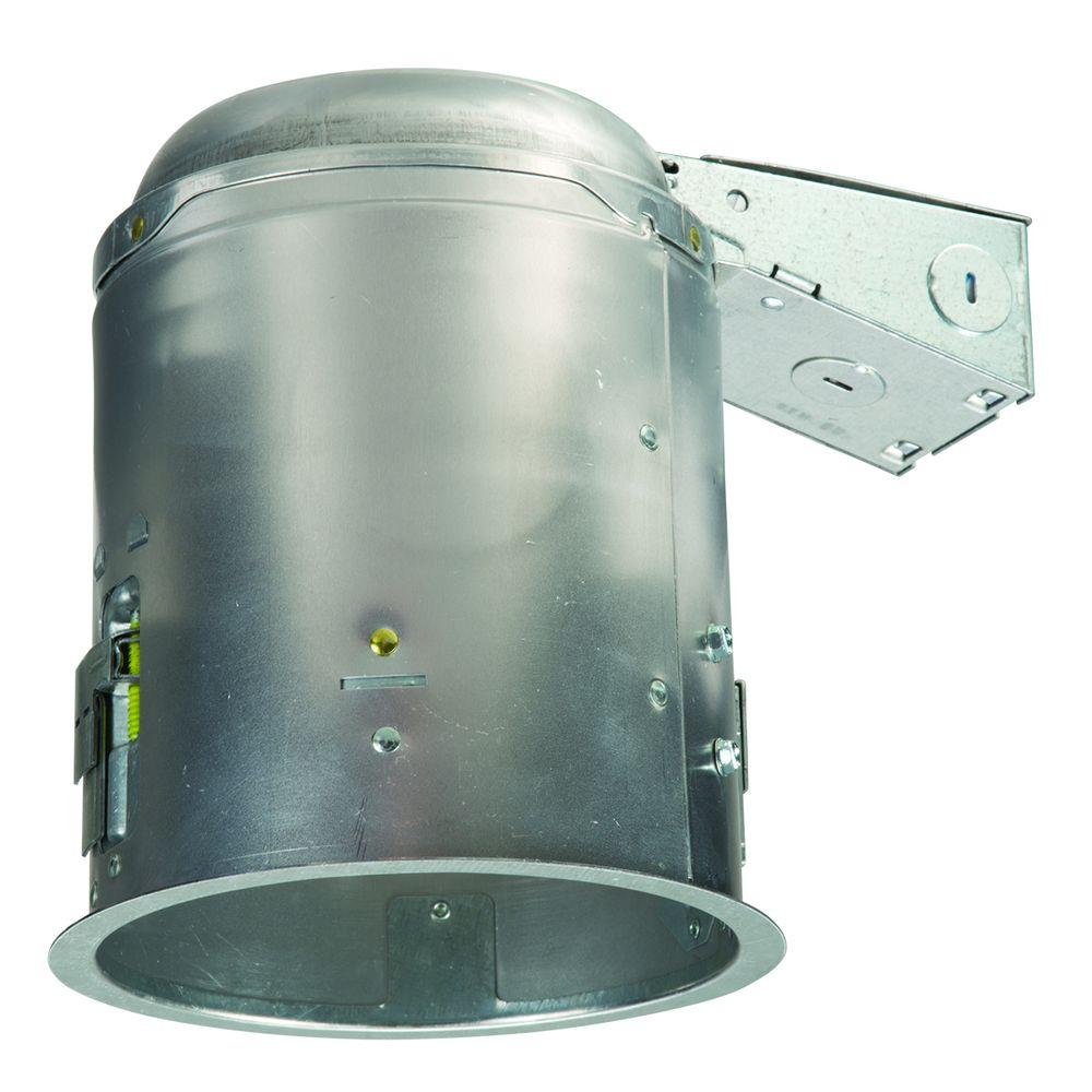 halo e26 5 in aluminum recessed lighting housing for remodel ceiling insulation contact