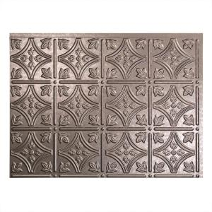 18.25 in. x 24.25 in. Galvanized Steel Traditional Style # 1 PVC Decorative Backsplash Panel