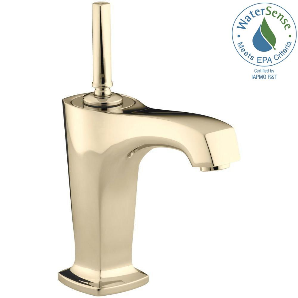 KOHLER Margaux Single Hole Single-Handle Low Arc Bathroom Vessel Bathroom Faucet in Vibrant French