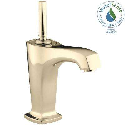 Margaux Single Hole Single Handle Low Arc Bathroom Vessel Sink Faucet in Vibrant French Gold