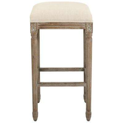 Jacques 31 in. Natural Cushioned Bar Stool in Antique Brown
