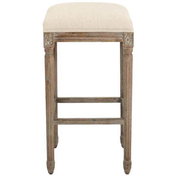 Home Decorators Collection Jacques 31 in. Natural Cushioned Bar Stool in