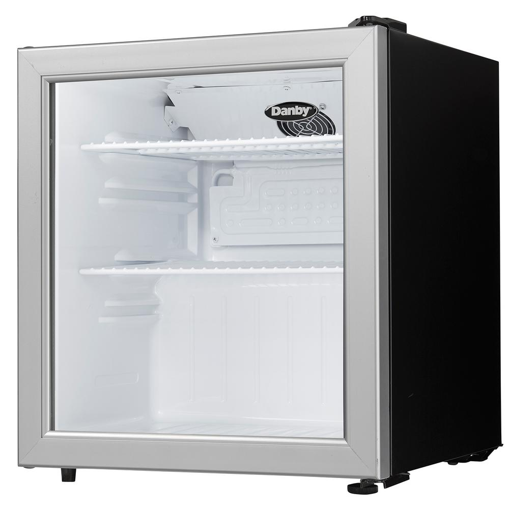 Danby 18 In W 1 6 Cu Ft Glass Door Commercial Refrigerator In Black Dag016a1bdb The Home Depot