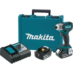 Makita 18-Volt LXT Lithium-Ion 1/4 inch Oil-Impulse Brushless Cordless 3-Speed Impact Driver Kit with (2)... by Makita