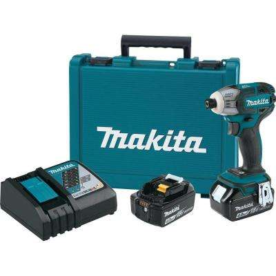 18-Volt LXT Lithium-Ion 1/4 in. Oil-Impulse Brushless Cordless 3-Speed Impact Driver Kit with (2) Batteries 4.0Ah, Case