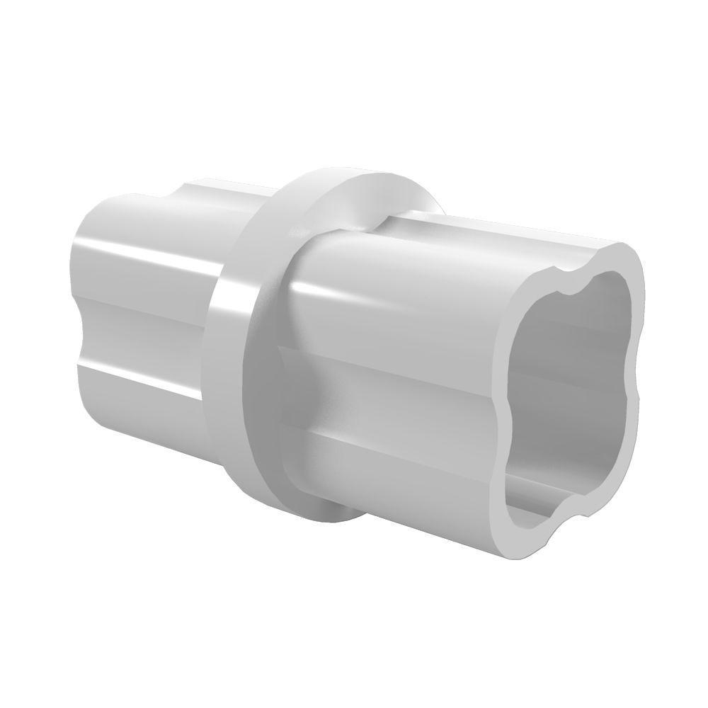 1/2 in. Furniture Grade PVC Sch. 40 Internal Coupling in White