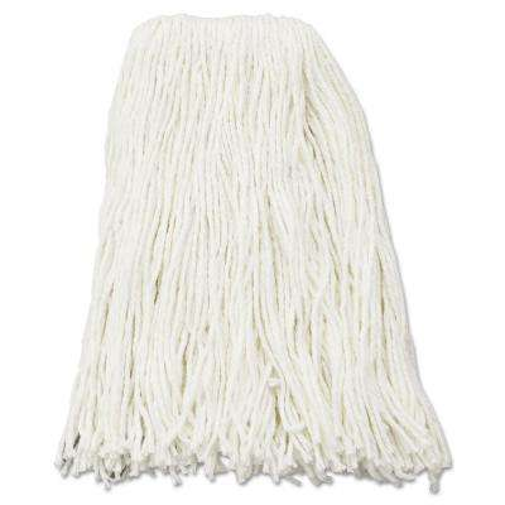 16 oz. Rayon Premium Cut-End Wet Mop Heads in White (12-Carton)