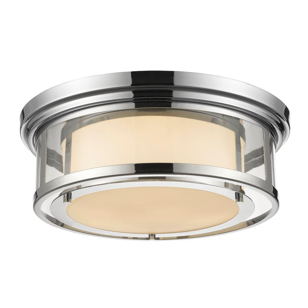 Elsey 3-Light Chrome Flushmount