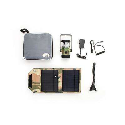 Heli 2200 AC Wall Adapter/10-in-1/DC Car Charger/Carrying Case/7-Watt Solar Panel LED Rechargeable Lantern in Camouflage
