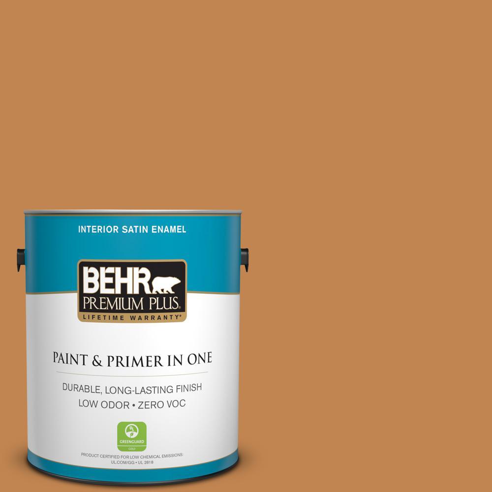 1-gal. #280D-6 Mulling Spice Zero VOC Satin Enamel Interior Paint