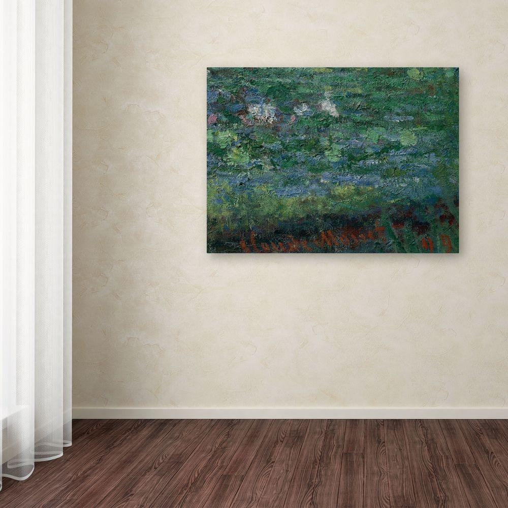 "Trademark Fine Art 35 in. x 47 in. ""The Waterlily Pond Green Harmony"" Canvas Art"