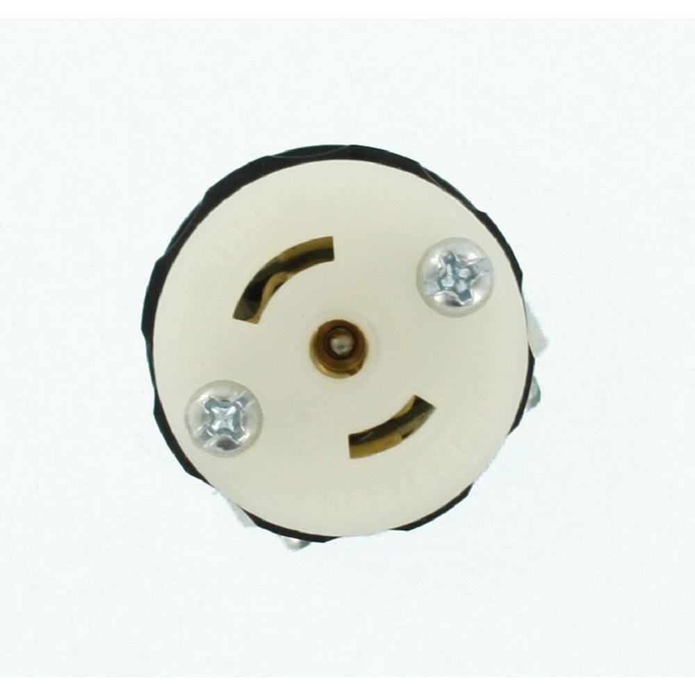 15 Amp 125/250-Volt Locking Connector Non-Grounding MiniLock, Black-White