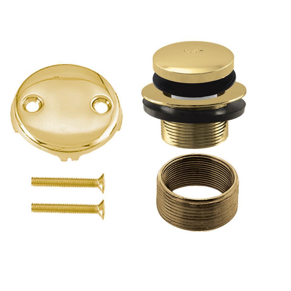 Westbrass Universal Tip Toe Tub Waste Trim Kit in Polished Brass