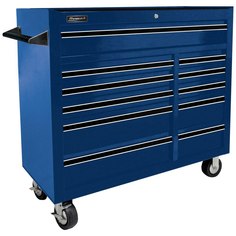 tool storage cabinets homak professional 41 in 11 drawer rolling cabinet blue 27229