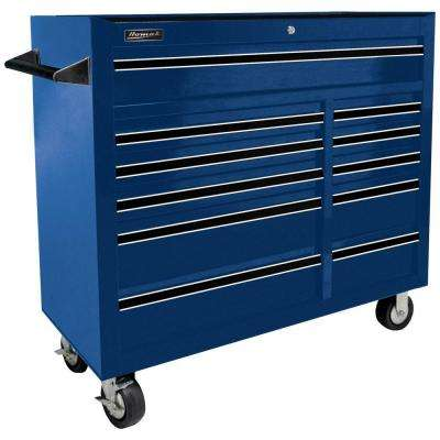 Professional 41 in. 11-Drawer Rolling Cabinet, Blue