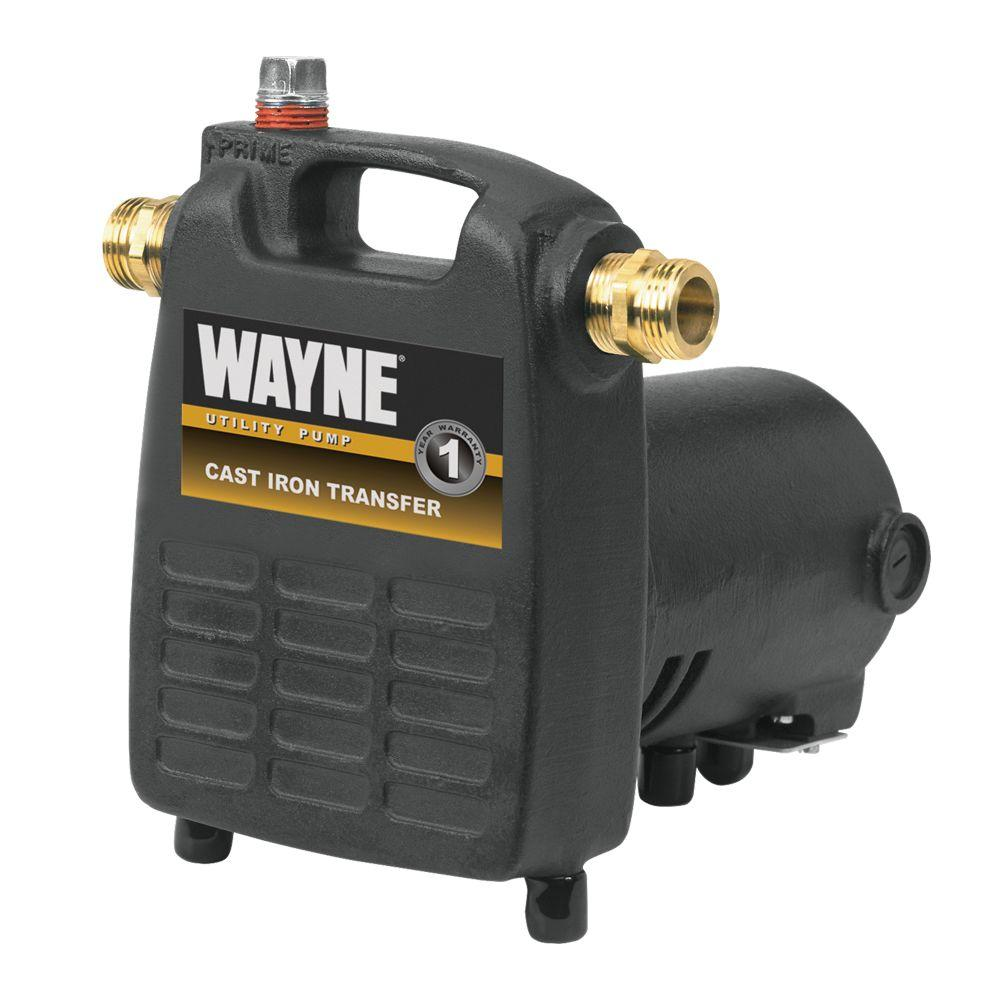 Wayne 1/2 HP Cast Iron, Portable Transfer Utility Pump PC4   The Home Depot
