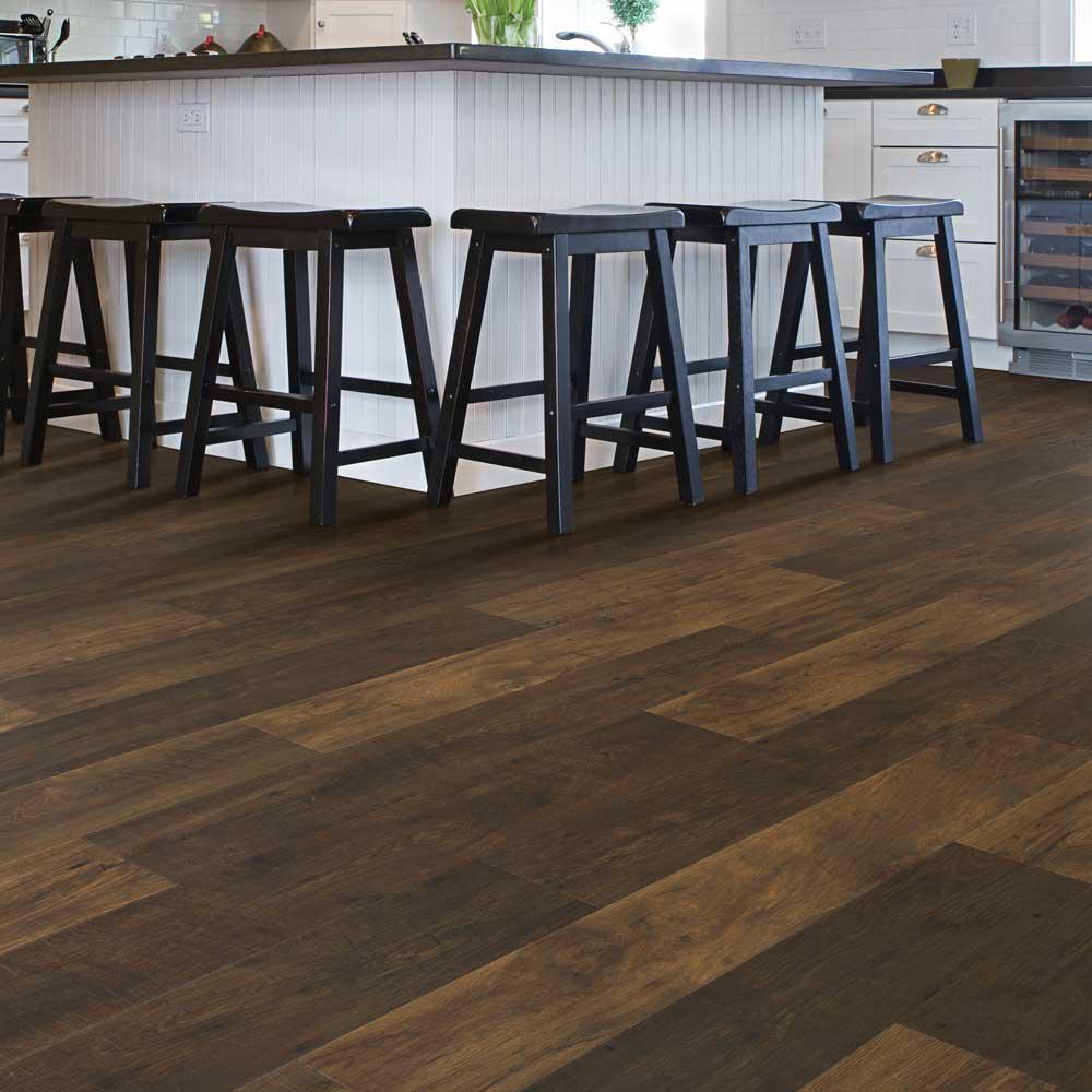 Outlast+ Waterproof Chestnut Brown 10 mm T x 6.14 in. W x 47.24 in. L Laminate Flooring (967.2 sq. ft. / pallet)