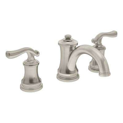 Winslet 8 in. Widespread 2-Handle Bathroom Faucet with Drain Assembly in Satin Nickel (1.5 GPM)