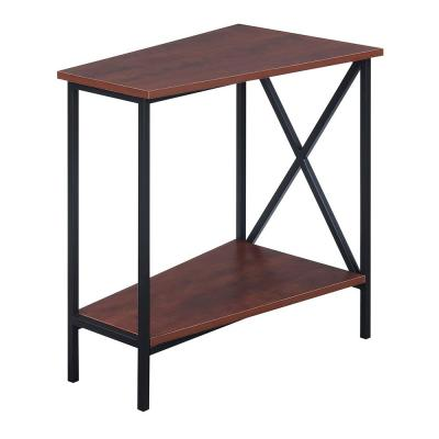 Tucson Cherry and Black Wedge End Table