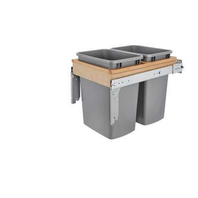 Dbl 35 Qt. Wood Top Mount Waste Container