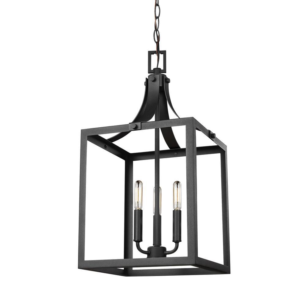 white foyer pendant lighting candle. Sea Gull Lighting Labette 3-Light Black Hall-Foyer Pendant White Foyer Candle