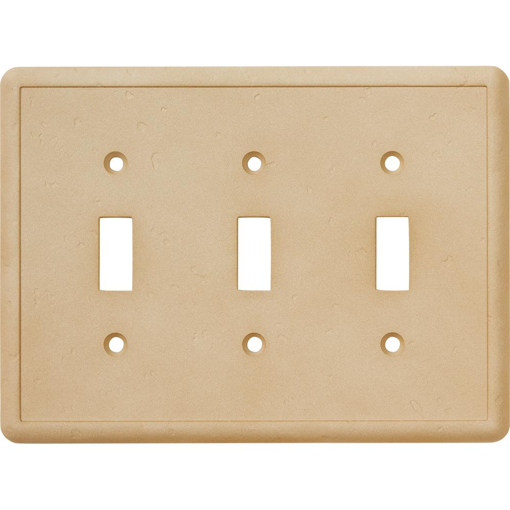 Decorative Wall Plate Cast Stone : Hampton bay toggle wall plate travertine swp