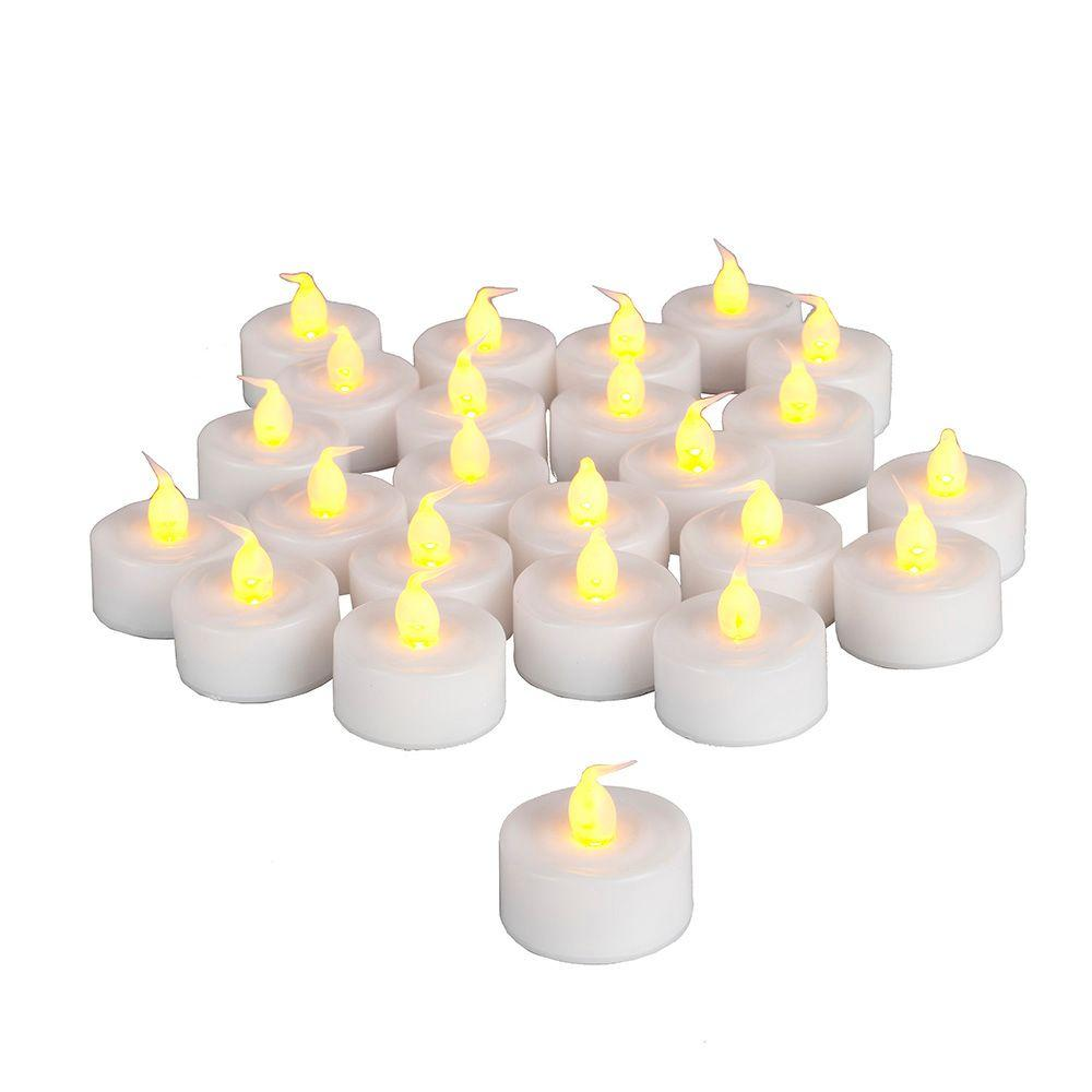Battery Operated Timer Tea-Light Candle (24 Piece)