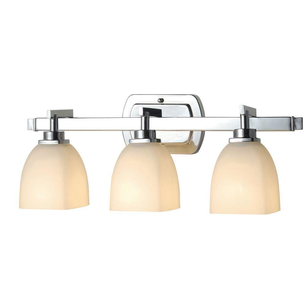 Galway Bath Collection 3-Light Chrome Bath Bar