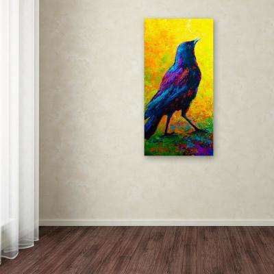 "47 in. x 24 in. ""Crow 3"" by Marion Rose Printed Canvas Wall Art"