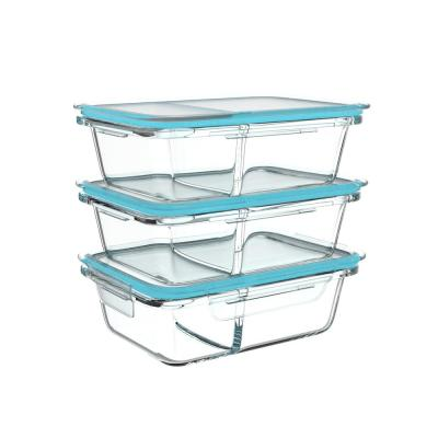6-Piece Glass Food Storage Containers with Snap Shut Lids
