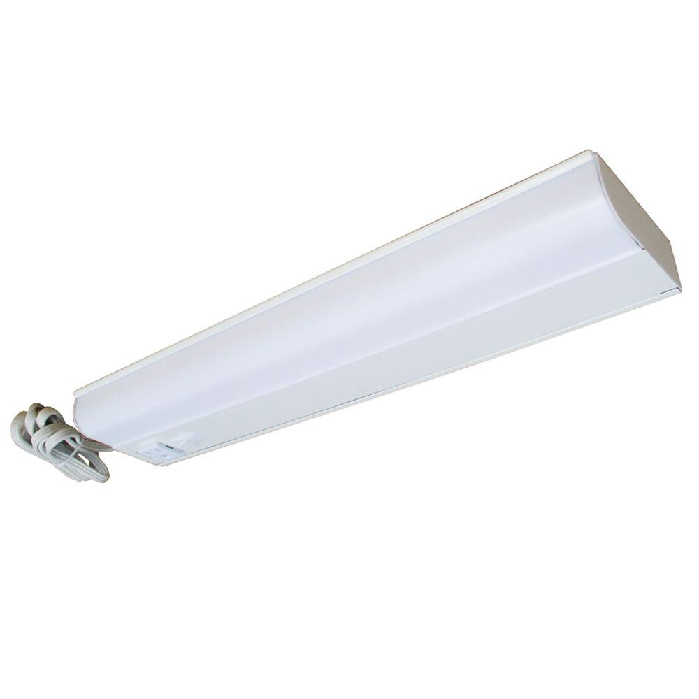 Aspects Fluorescent Plug-in 1-Light 18 in. White Under Cabinet Light