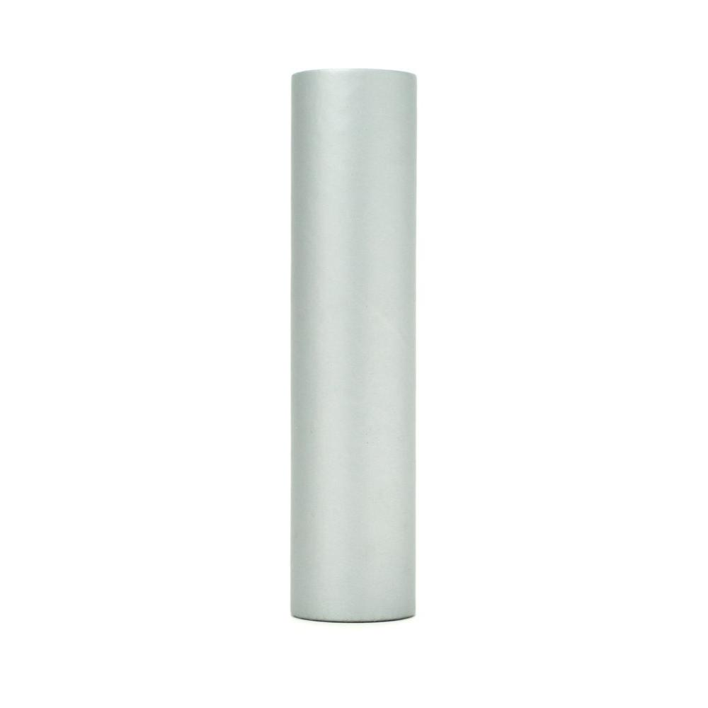 kaarskoker Solid 6 in. x 7/8 in. Silver Paper Candle Covers, Set of 2 - DISCONTINUED