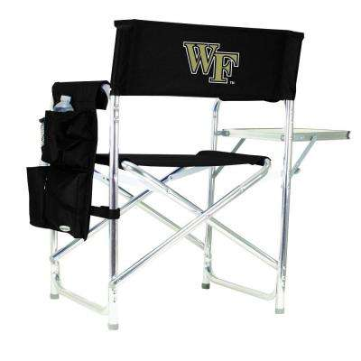 Wake Forest University Black Sports Chair with Embroidered Logo