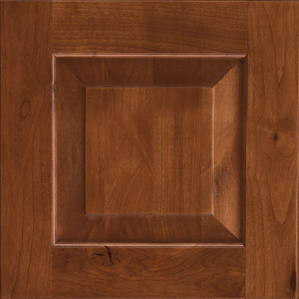 KraftMaid 15x15 in. Cabinet Door Sample in Dillon Rustic Alder in Sunset  Suede