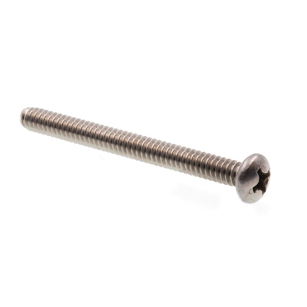 #6-32 x 1-1/2 in. Grade 18-8 Stainless Steel Phillips Drive Pan Head Machine Screws (25-Pack)