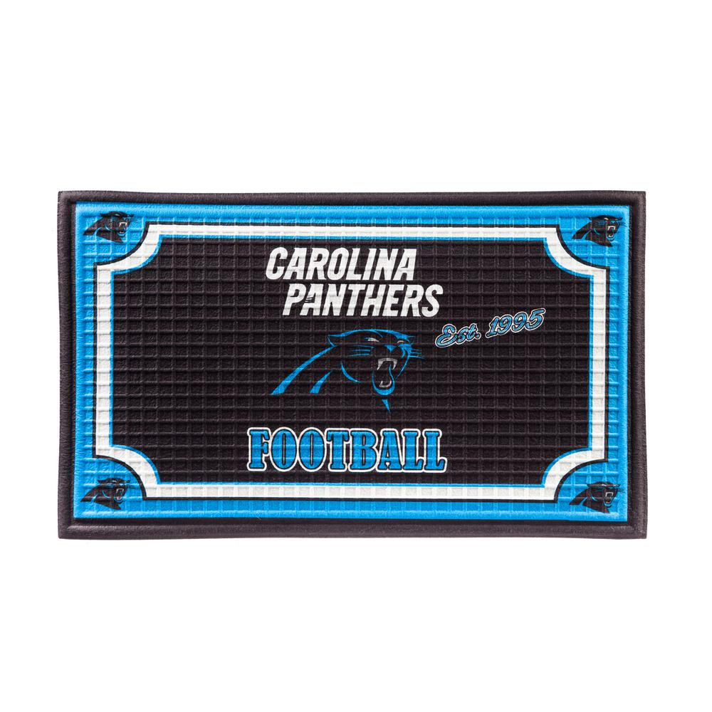 best service 60716 f2fc5 Evergreen Carolina Panthers 18 in. x 30 in. Embossed Welcome ...