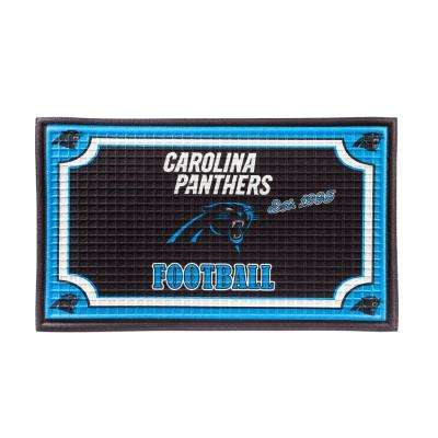 Carolina Panthers 18 in. x 30 in. Embossed Welcome Mat
