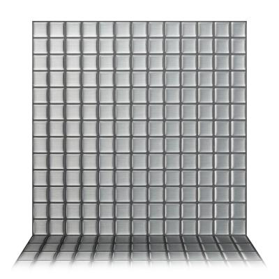 Stainless Steel 12 in. W x 12 in. H Peel and Stick Decorative Mosaic Wall Tile Backsplash (10-Tiles)