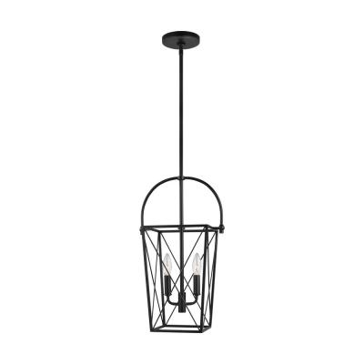 Bridgewood 2-Light Black Hall/Foyer Pendant