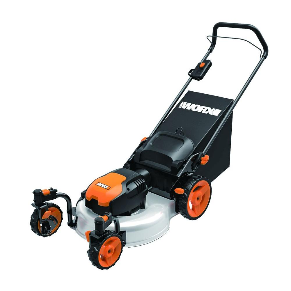 Worx 19 In 13 Amp Corded Electric Walk Behind Push Mower Wg719 The Home Depot