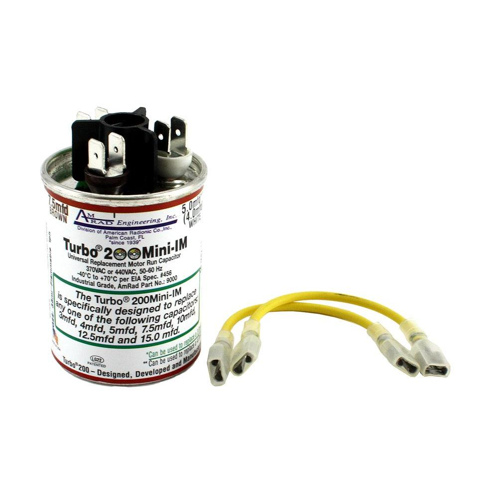 Mars 2 5 to 12 5 MFD 370 or 440-Volt Round Universal Run Capacitor