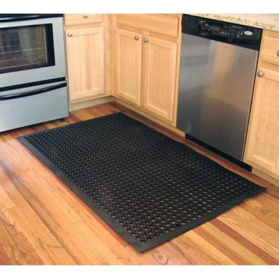 Indoor/Outdoor Durable Anti-Fatigue 24 in. x 36 in. Industrial Commercial Home Restaurant Bar Drainage Rubber Floor Mat