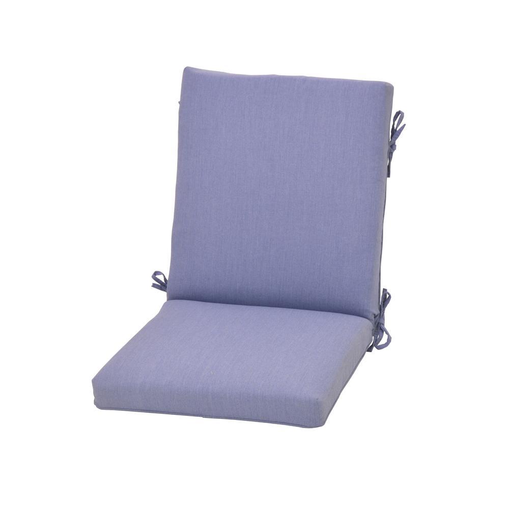 Cushionguard Denim Outdoor High Back Dining Chair Cushion