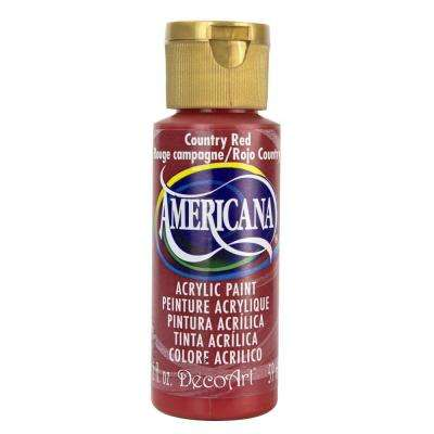 Americana 2 oz. Country Red Acrylic Paint